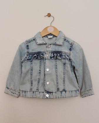 H&M bleach wash denim jacket (age 9-12 months)