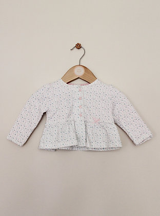 Mini Club jersey ditsy floral jacket (age 6-9 months)