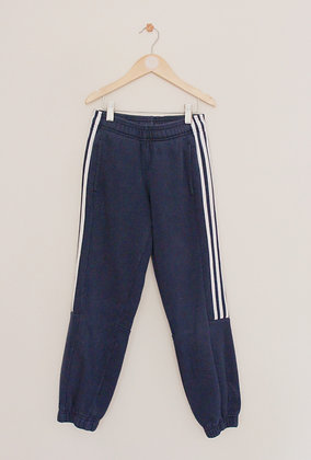 Adidas navy blue joggers with 3 stripe on leg (age 9-10)
