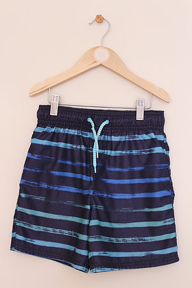 George navy and blue striped swimming shorts (age 7-8)