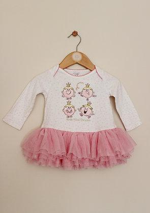 Tesco Little Miss Princess tutu style tunic (age 6-9 months)