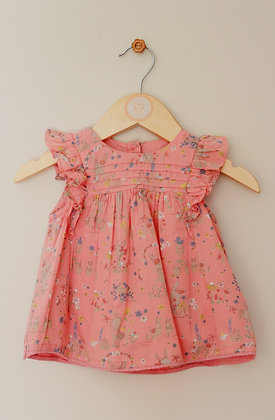 Mothercare pink bunny print dress (age 9-12 months)