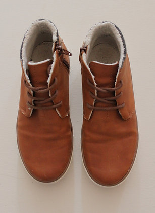 Next fleece lined tan ankle boots (size 2)