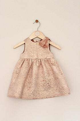 Nutmeg rose gold sleeveless party dress (age 3-6 months)