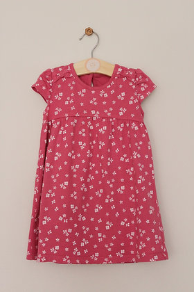 George mid pink jersey floral dress (age 12-18 months)