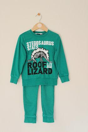 H&M green dinosaur tracksuit (age 5-6)