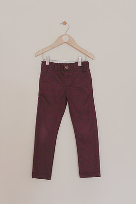 Next burgundy chino trousers (age 3-4)