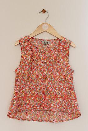 Next peach floral drop hem blouse (age 10)