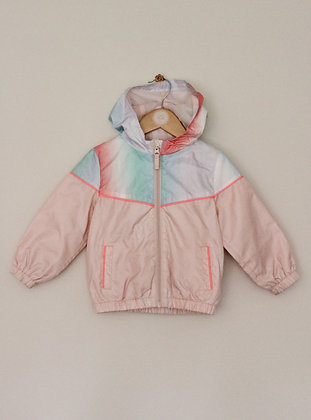 Next multi coloured hooded cagoule jacket (age 18-24 months)