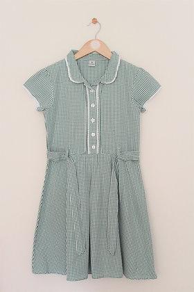 TU green check summer school dress (age 9)