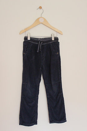 George navy lined pull on cords (age 4-5)