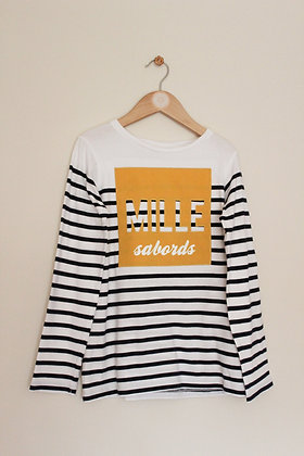 Okaidi striped navy striped long sleeved top (age 10)