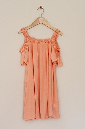 Matalan peach cold shoulder dress (age 8)