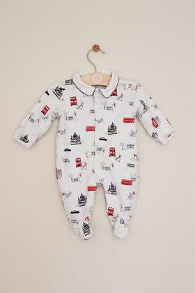 Jojo Maman Bebe Peter Rabbit themed sleepsuit (age 0-3 months)