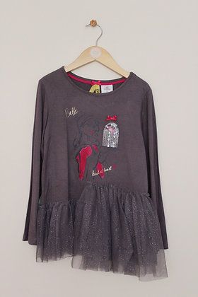 Disney Belle long sleeved jersey top with sparkly trim (age 7-8)