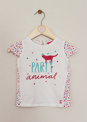Joules 'Party animal' spotty t-shirt (age 9-12 months)