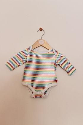 Little bird striped long sleeved bodysuit (age 0-1 month)