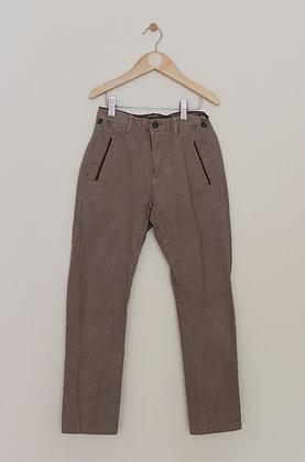 Zara woven brown fine stripe trousers (age 8)