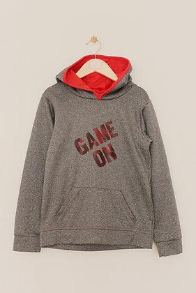 Zakti grey activewear 'Game on' hoodie (age 7-8)