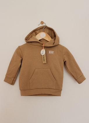 BNWT River Island tan hoodie (age 0-3 months)