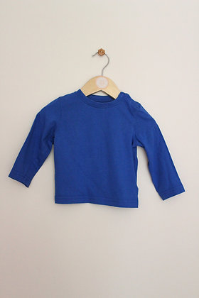 Mothercare royal blue long sleeved t-shirt top (age 6-9 months)
