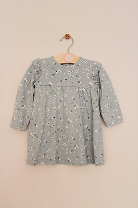 George  pale green floral print jersey dress (age 6-9 months)