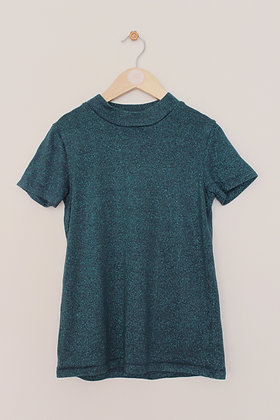 Next green sparkly knitted top (age 10)