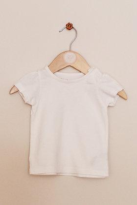 Nutmeg plain white t-shirt (age 0-3 months)