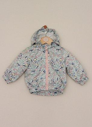 H&M bird patterned lightweight hooded jacket (age 4-6 months)