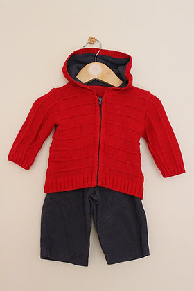 M&S 2 piece trouser and cardigan set (age 3-6 months)