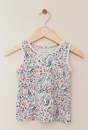 Primark floral vest top (age 12-18 months)