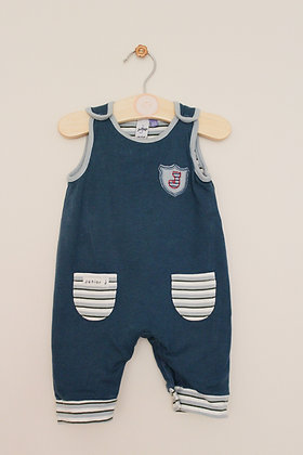 Jasper Conran teal jersey dungarees (age 0-3 months)