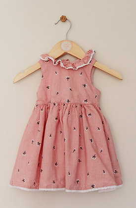 Mothercare little daisy lined embroidered dress (age 3-6 months)