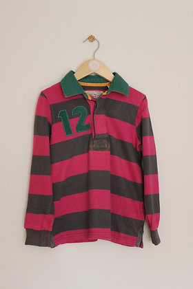 Joules striped rugby top (age 6)