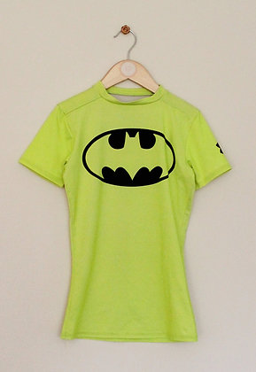 "Under Armour fluro Batman fitted top (Youth small / 26-28"")"