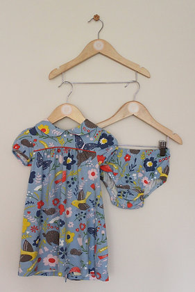 Baby Boden jersey collared dress and cover up pants (age 18-24 months)