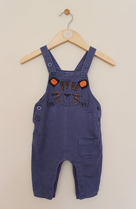Next blue tiger dungarees (age 0-3 months)