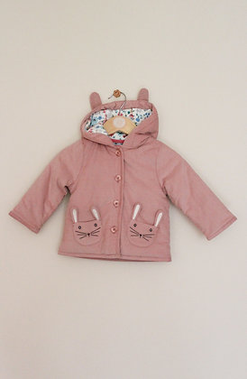John Lewis padded soft cord bunny coat (age 3-6 months)