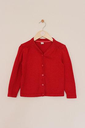 TU red school cardigan (age 3)