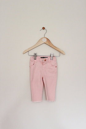 Denim Co pink stretch jeans (age 3-6 months)