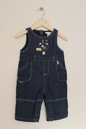 Orchestra 'My Little Bear' denim dungarees (age 12 months)