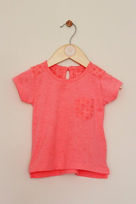 Primark fluro t-shirt with cut out decoration (age 9-12 months)