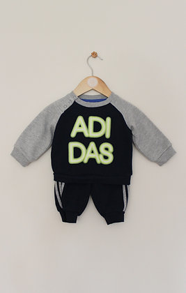 Adidas navy tracksuit (age 0-3 months)