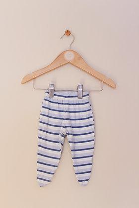 Dunnes blue stripey leggings with feet (Newborn)