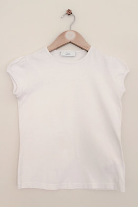 Next white capped sleeve school t-shirt (age 8)