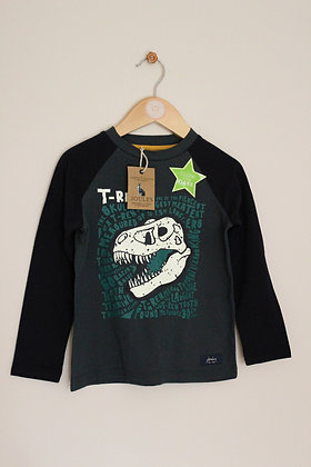BNWT Joules navy and green dinosaur top (age 4)