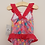 Thumbnail: BNWT Primark pink floral sparkly swimsuit (age 18-24 months)
