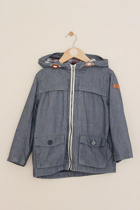 Lightweight blue chambray hooded summer jacket (age 6)