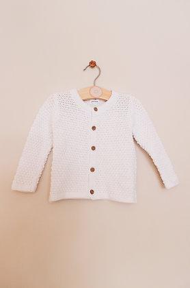 John Lewis cotton knit cardigan (age 3-6 months)
