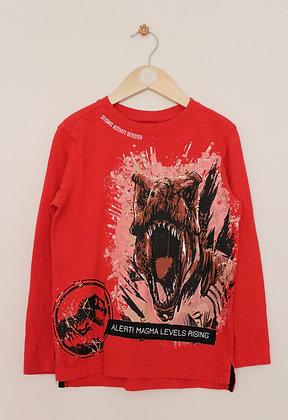 George red dinosaur sweatshirt (age 6-7)